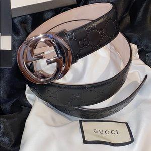 BNWT Gucci Black Leather Belt